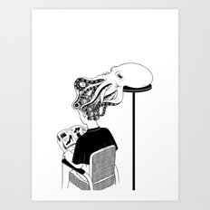 Octopus Salon Art Print