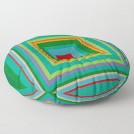 """Pop Ring Green""   Op art Floor Pillow"