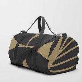 Diamond Series Floral Cross Gold on Charcoal Duffle Bag