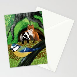 Of foxes and badgers Stationery Cards