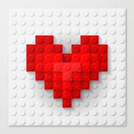 brick heart Canvas Print
