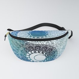moon and sung (blue) Fanny Pack