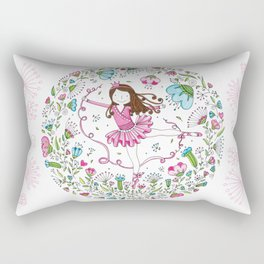 Sweet Ballerina Rectangular Pillow