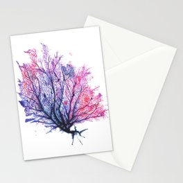 Fan Coral - Purple Stationery Cards
