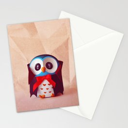 Owly Halloween costume Stationery Cards