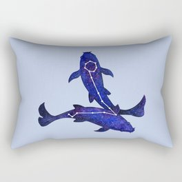 Astrological sign pisces constellation Rectangular Pillow