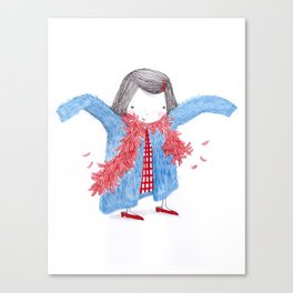 Tallulah loves to dress up Canvas Print