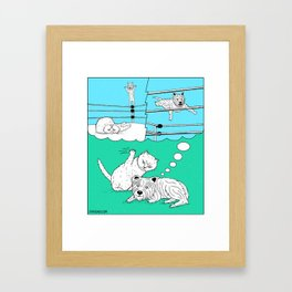 Off The Top Rope Framed Art Print