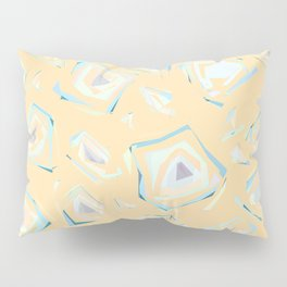 Deformed cosmic objects soft coral, floating in the empty space, geometric shapes, texture, pattern Pillow Sham