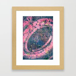 Pink space Framed Art Print