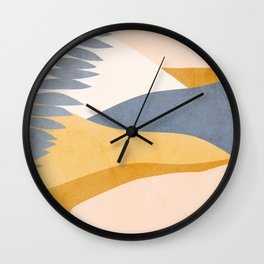 Abstract Tropical Summer Landscape - blue Wall Clock