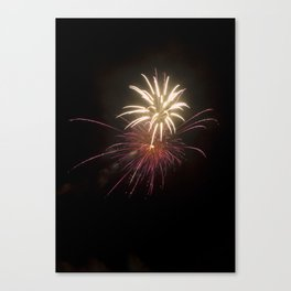 Fireworks on the Fourth - Purple and Gold Canvas Print