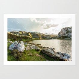 Lake Ercina Art Print