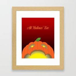 Jack O' Lantern Surprise Framed Art Print