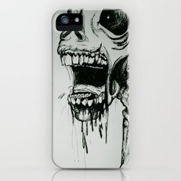 Scream Zombie! iPhone Case