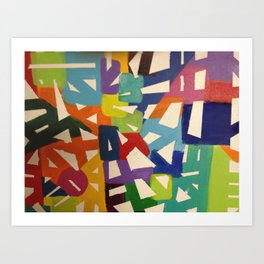 Abstract Lines Art Print