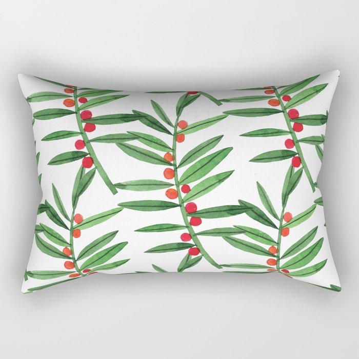 Botanic Watercolor Collection #20 Rectangular Pillow