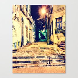 Dark street - Rio de Janeiro Canvas Print