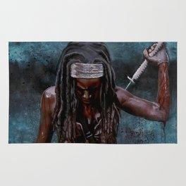 Michonne And Her Sword - The Walking Dead Rug