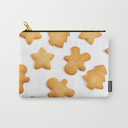 Cookies in shape of Christmas tree, man and star Carry-All Pouch