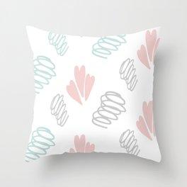 Cuteness buckle background Throw Pillow