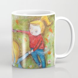 Autumn Mistral, playing ring-a-ring-a-rosie on a windy day Coffee Mug