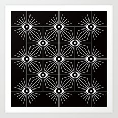ELECTRIC EYES Art Print