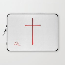 The Legacy Of The Cross White Laptop Sleeve