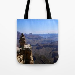 Duck On A Rock - A Scenic Grand Canyon View Tote Bag