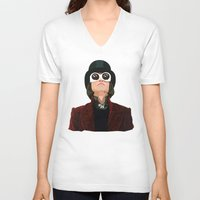 willy wonka V-neck T-shirts featuring Willy Wonka by Ananas Art Shop