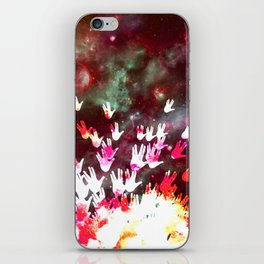 H.E.L.L.O. / red iPhone Skin