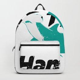 hammer time hammer time hammerhead shark shark fish Backpack