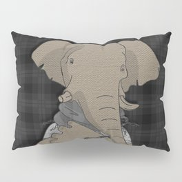 Hipster Elephant  mixed media digital art collage Pillow Sham