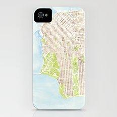 San Francisco CA City Map  iPhone (4, 4s) Slim Case