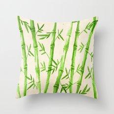Bamboo Pattern Throw Pillow