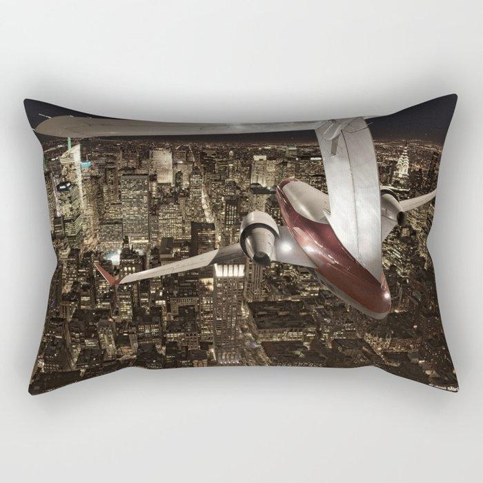 Fly me to New York Rectangular Pillow