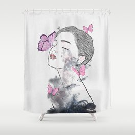 A touch of butterflies. Shower Curtain
