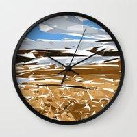 iceland Wall Clocks featuring iceland by Matthias Hennig