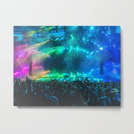 Concert Festival Stage Colors Metal Print
