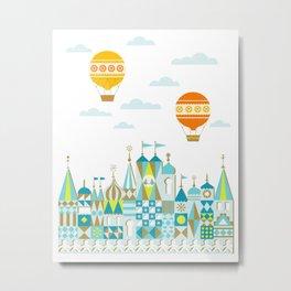 Small Magic white Metal Print