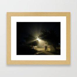 Rickshaw in the Night Framed Art Print