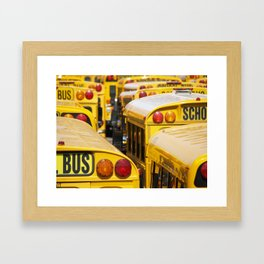 Brooklyn: School Buses Framed Art Print