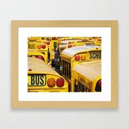 Brooklyn: School Buses Framed Art Print
