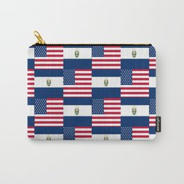 Mix of flag :  Usa and Salvador Carry-All Pouch