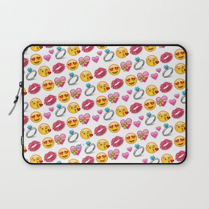 Valentine S Day Emoji Love Laptop Sleeve By Lovelunchliftoff Society6
