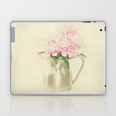 Antique Peony Bouquet in Stainless Pitcher Still Life Floral Laptop & iPad Skin