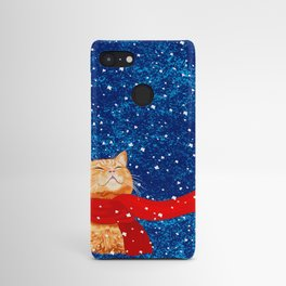 Tabby loves Snow... Android Case