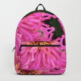 Pink Zinnia Kaleidoscope Mandala Backpack