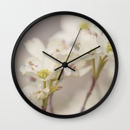 White Dog Wood Wall Clock