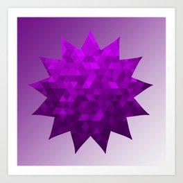 Kwan Yin's Star | Purple Flame | Compassion Art Print